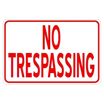 no-trespassing